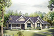 Country Exterior - Front Elevation Plan #57-684