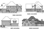 Traditional Style House Plan - 3 Beds 3 Baths 2218 Sq/Ft Plan #100-444 Exterior - Rear Elevation