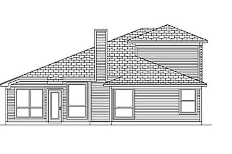 Traditional Exterior - Rear Elevation Plan #84-456 - Houseplans.com