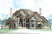 European Style House Plan - 4 Beds 5 Baths 5580 Sq/Ft Plan #119-229 Exterior - Front Elevation