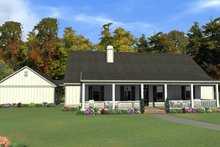 Dream House Plan - Ranch Exterior - Front Elevation Plan #63-414