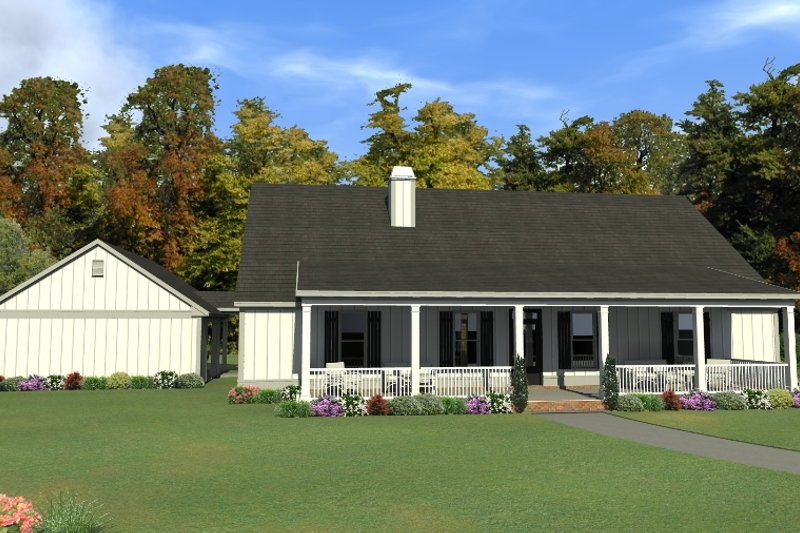 Home Plan - Ranch Exterior - Front Elevation Plan #63-414