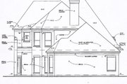 European Style House Plan - 3 Beds 3.5 Baths 3254 Sq/Ft Plan #141-104 Exterior - Rear Elevation