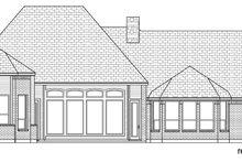 Tudor Exterior - Rear Elevation Plan #84-609