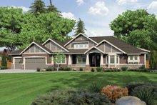 Ranch Exterior - Front Elevation Plan #132-547