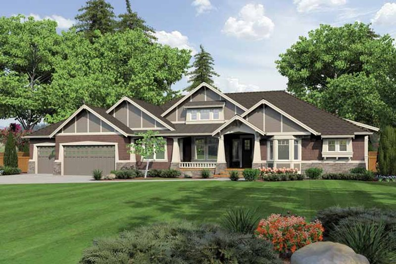 Dream House Plan - Ranch Exterior - Front Elevation Plan #132-547