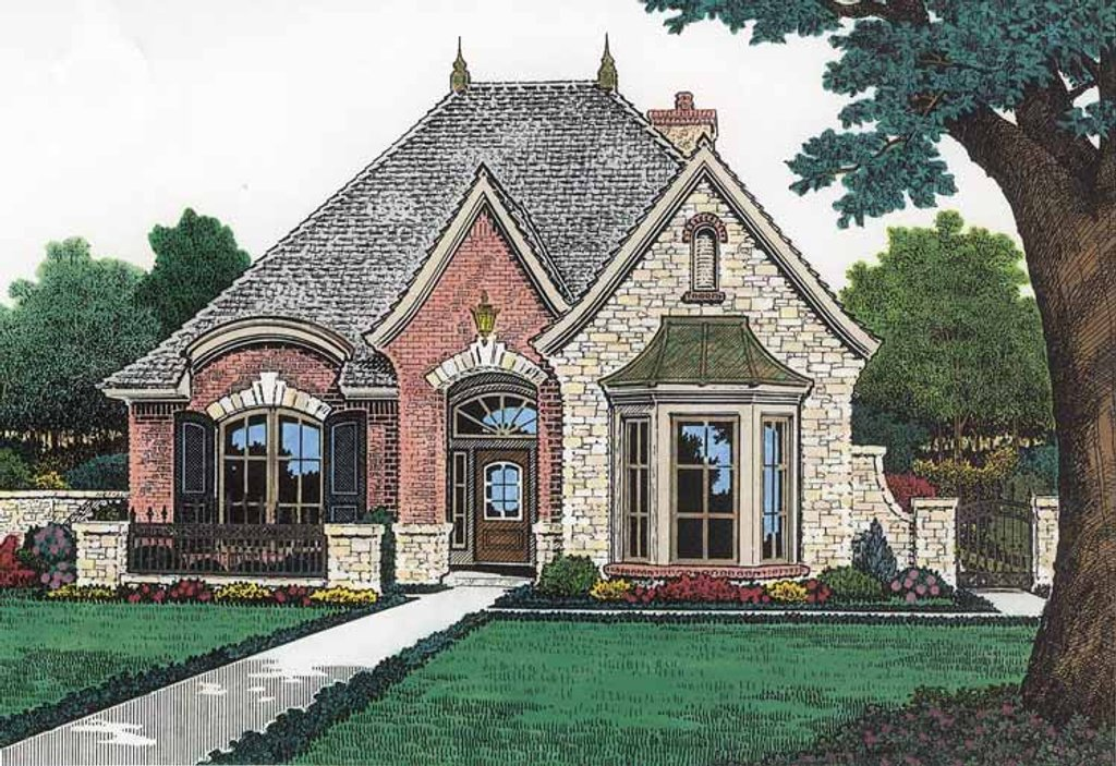 Country Exterior Front Elevation Plan 310 1197
