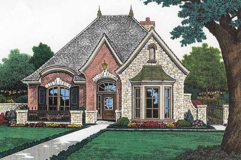 Country Exterior - Front Elevation Plan #310-1197