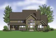 Home Plan - Traditional Exterior - Rear Elevation Plan #48-876