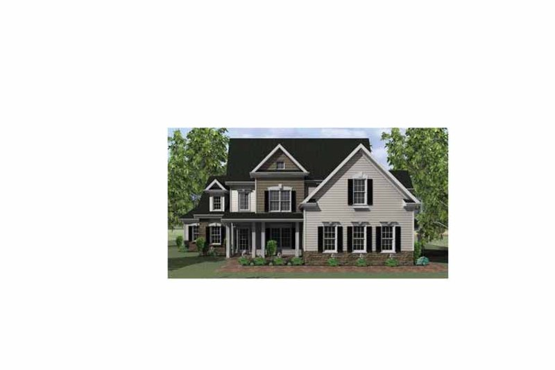 Country Exterior - Front Elevation Plan #1010-6 - Houseplans.com
