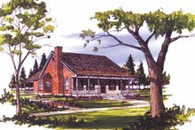 House Plan Design - Country Exterior - Front Elevation Plan #406-9650