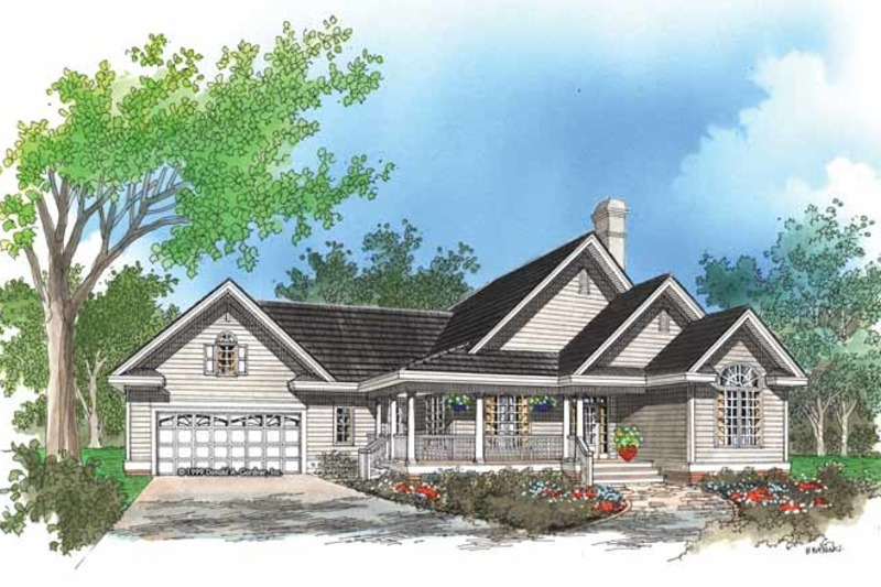 Country Exterior - Front Elevation Plan #929-475 - Houseplans.com
