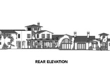 Home Plan - Mediterranean Exterior - Rear Elevation Plan #48-361