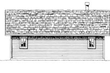 Country Exterior - Rear Elevation Plan #942-13
