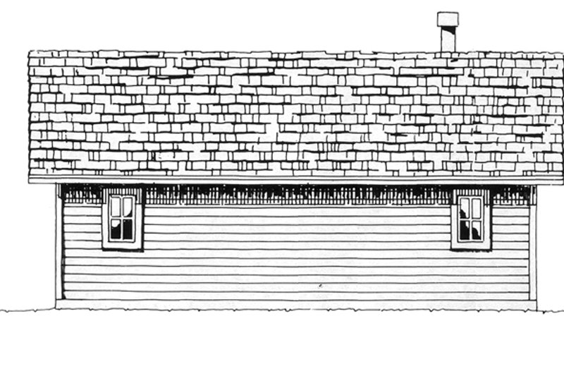 Country Exterior - Rear Elevation Plan #942-13 - Houseplans.com