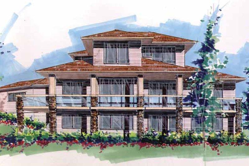 Prairie Exterior - Rear Elevation Plan #509-416 - Houseplans.com