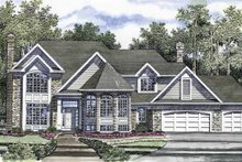 Architectural House Design - Traditional Exterior - Front Elevation Plan #316-171