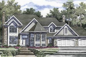 Traditional Exterior - Front Elevation Plan #316-171
