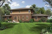 House Design - Prairie Exterior - Rear Elevation Plan #48-922