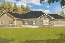 Ranch Exterior - Front Elevation Plan #1037-27