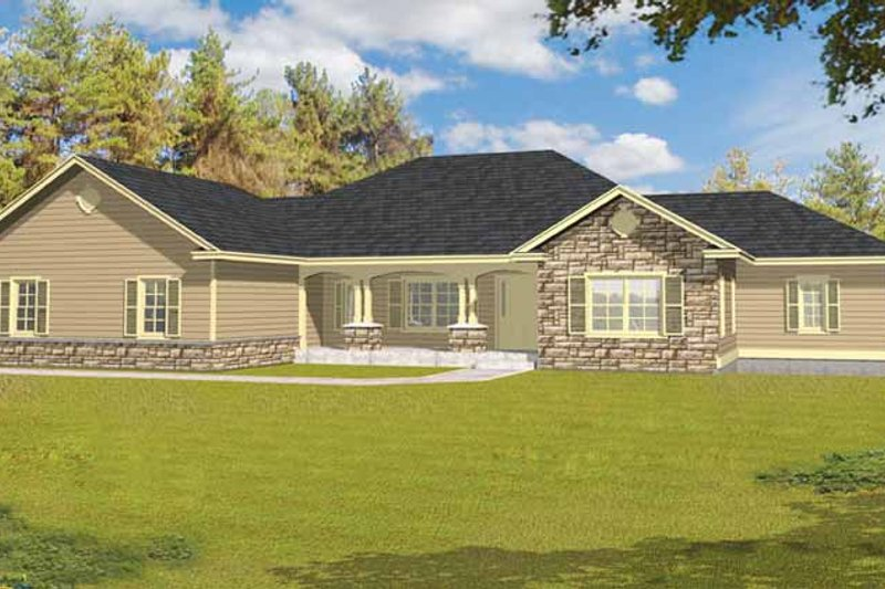 Ranch Exterior - Front Elevation Plan #1037-27 - Houseplans.com