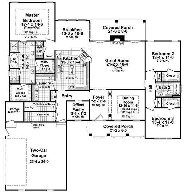 Traditional house plan Country Design floor plan
