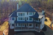 Country Style House Plan - 4 Beds 4.5 Baths 4371 Sq/Ft Plan #437-81 Exterior - Rear Elevation