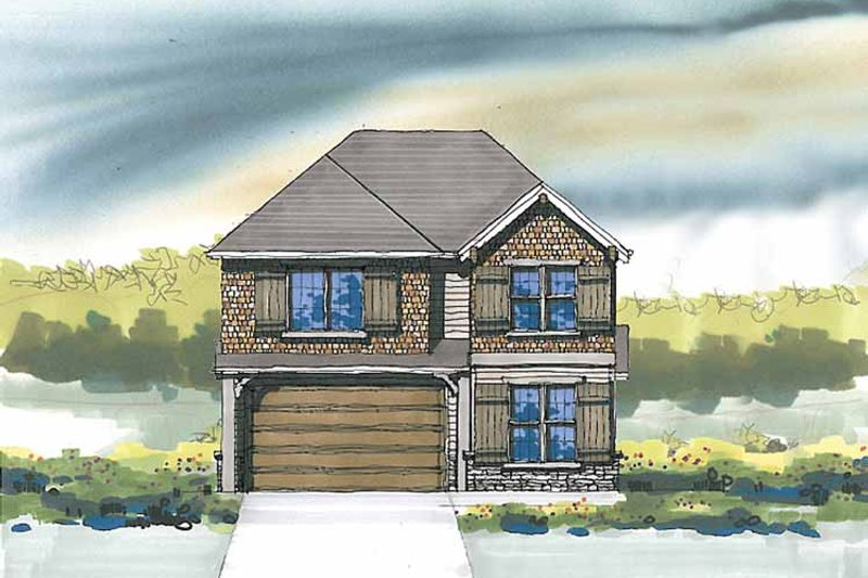 Craftsman Exterior - Front Elevation Plan #509-289