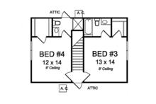Traditional Floor Plan - Upper Floor Plan Plan #513-2162