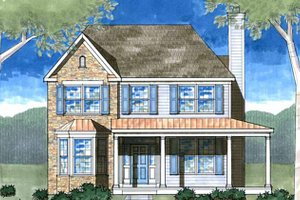 Country Exterior - Front Elevation Plan #1029-13