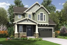 Craftsman Exterior - Front Elevation Plan #48-924