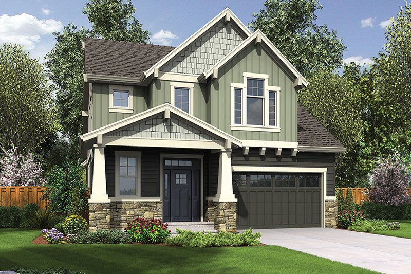 Architectural House Design - Craftsman Exterior - Front Elevation Plan #48-924