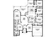 European Style House Plan - 4 Beds 3 Baths 3068 Sq/Ft Plan #1058-129 Floor Plan - Main Floor Plan