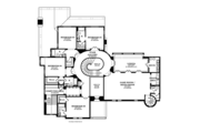Mediterranean Style House Plan - 5 Beds 5 Baths 7363 Sq/Ft Plan #1058-19 Floor Plan - Upper Floor