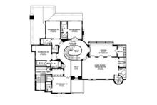 Mediterranean Floor Plan - Upper Floor Plan Plan #1058-19