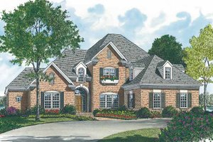 Architectural House Design - Traditional Exterior - Front Elevation Plan #453-102