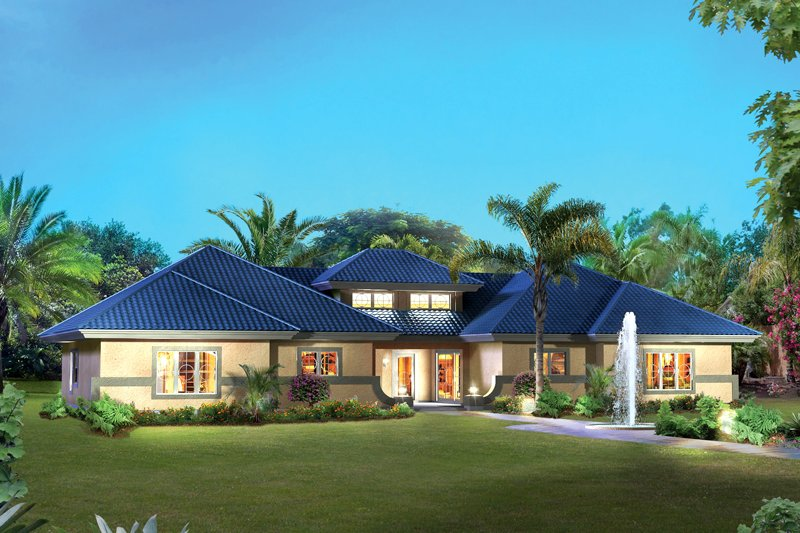 Home Plan - Contemporary Exterior - Front Elevation Plan #57-686