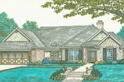 European Style House Plan - 3 Beds 2 Baths 1805 Sq/Ft Plan #310-297