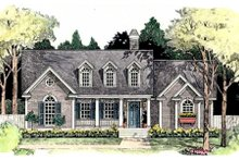 Southern Exterior - Front Elevation Plan #406-206