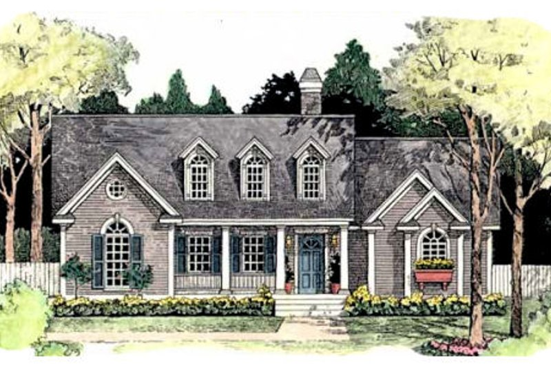Southern Exterior - Front Elevation Plan #406-206 - Houseplans.com
