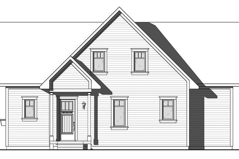 Traditional Exterior - Front Elevation Plan #23-2609 - Houseplans.com