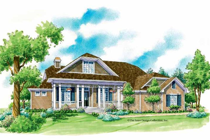 Country Exterior - Front Elevation Plan #930-230