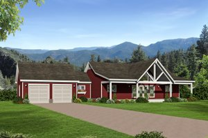 Country Exterior - Front Elevation Plan #932-36