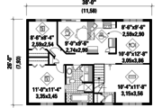 Country Style House Plan - 2 Beds 1 Baths 988 Sq/Ft Plan #25-4811 Floor Plan - Main Floor Plan
