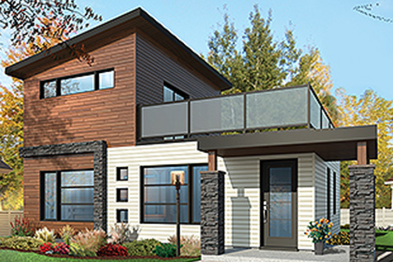 Contemporary Exterior - Front Elevation Plan #23-2601