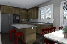 Ranch Interior - Kitchen Plan #1060-42