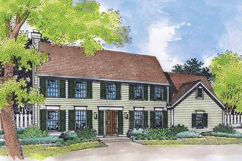 Architectural House Design - Classical Exterior - Front Elevation Plan #320-543