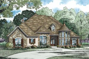 House Plan Design - Country Exterior - Front Elevation Plan #17-3340