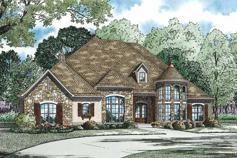 Country Exterior - Front Elevation Plan #17-3340 - Houseplans.com