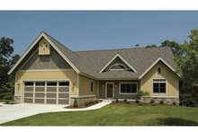 Craftsman Exterior - Front Elevation Plan #928-88
